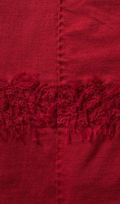 Detail Fur Stripe Long Fitted Skirt