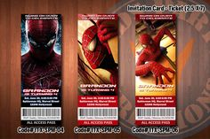Free Printable Spiderman Birthday Invitation for Boys