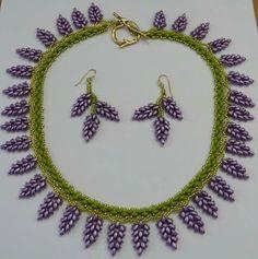 Wisteria necklace designed by Teresa Morse
