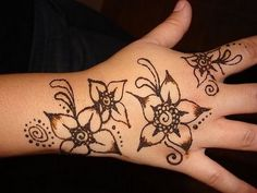 Henna Designs for Beginners Drawings Palm Peacock Form Kids For ...