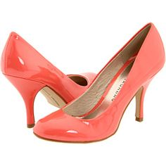 Coral shoes  love this glossy color