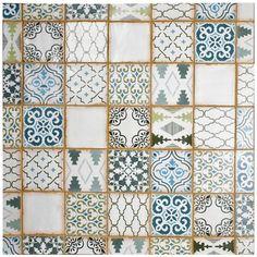 Merola Tile Archivo Fleur De Lis 4-7/8 in. x 4-7/8 in. Ceramic Floor and Wall Tile (5.9 sq. ft. / case)