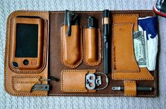lucky leather executive edc wallet