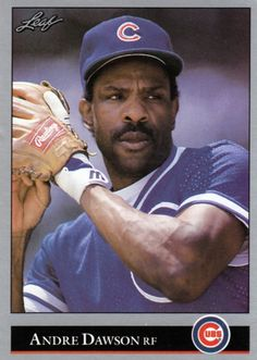 Random Baseball Card #2818: Andre Dawson, outfielder, Chicago Cubs, 1992, Leaf.
