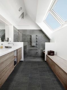 Master Bathroom Ideas Decor Luxury is definitely important for your home. Whether you choose the Luxury Bathroom Master Baths Beautiful or Luxury Master Bathroom Ideas, you will create the best Small Bathroom Decorating Ideas for your own life. Luxury Master Bathrooms, Grey Bathrooms, Modern Bathroom, Small Bathroom, Master Baths, Attic Bathroom, Bathroom Interior, Dyi Bathroom, Budget Bathroom