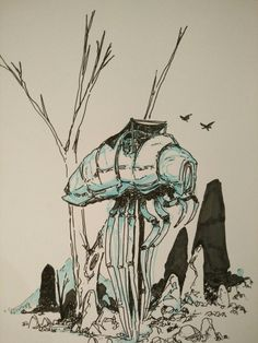 """talfoxart: """" More of that there Morrowind art, love me some Silt Striders. If you have seen, I have done a butt load of Morrowind art you should check out on my blog, is good stuff """""""