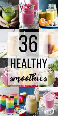 healthy smoothies to give you a healthy boost Loads of recipes filled with fruits and veggies for even the pickiest eater fruit smoothie breakfast smoothie green smoothie. Smoothies Banane, Healthy Fruit Smoothies, Apple Smoothies, Healthy Detox, Breakfast Smoothies, Healthy Fruits, Fruits And Veggies, Healthy Drinks, Healthy Snacks