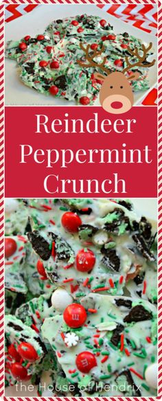 Addictively delciious! This transforms Peppermint Bark into a the ultimate holiday indulgence. Only takes 5 minutes and is going to be my neighbor and teacher gift.  The cookies and cream takes it to a new level! Also perfect to take to a Christmas party. | the House of Hendrix Christmas Party Deserts, Holiday Treats, Christmas Recipes, Christmas Foods, Holiday Foods, Teacher Christmas Gifts, Christmas Time, Holiday Fun, Christmas Ideas