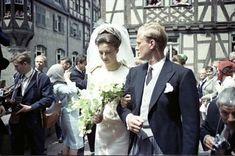 Mariage à Kronberg en 1964 : Princesse Tatiana de Sayn-Wittgenstein-Berleburg (1940) fille de Gustav Albrecht, prince de Sayn-Wittgenstein-Berleburg, et de Margareta Fouché d'Otrante, (et belle-soeur de la princesse Benedikte de Danemark)