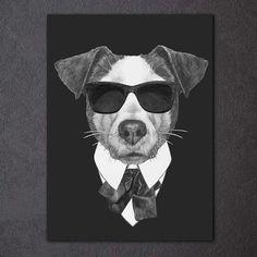Pop Art Style Beware of Pit Bulls Canvas Tasche for Ladies Farbe Schwarz