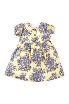 Pippa & Julie Plisse Floral Peter Pan Collar Dress (Baby Girls)   Nordstrom Rack