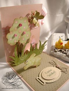 cuttlebug pop-up Easter card.  To make for someone really special!