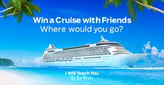 What would you do on a cruise with 9 friends? I am not normally this charged up about cruising... but I really think I can win this with a lil help from mah frenz;-)  Please check it out! xoxo