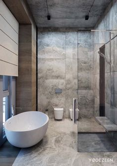 One of the most popular interior design for home is modern. The modern interior will make your home looks elegant and also amazing because of its natural material. If you want to design your home inte Modern Bathroom Design, Bathroom Interior Design, Modern Interior Design, Interior Architecture, Modern Interiors, Modern Bathtub, Contemporary Bathrooms, Bathroom Designs, Contemporary Interior