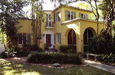 Addison Mizner home in Boca Raton's Old Floresta neighborhood - Exterior view an Addison Mizner home in Boca Raton's Old Floresta neighborhood belonging to Melissa Baumgartner - Photo by Mark Randall, SunSentinel (Boca Raton, Florida)