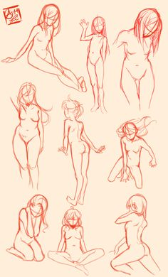 A few sketches I made as practice for female anatomy, thought it might help some people so I decided to share! Will probably scrap later. credit will be appreciated b. Drawing Poses, Manga Drawing, Life Drawing, Figure Drawing, Drawing Reference, Drawing Sketches, Art Drawings, Sketching, Anatomy Drawing