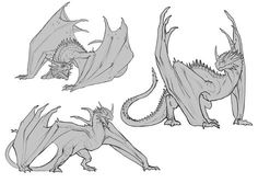 Thorny Dragon sketches, Javier Franco Santacreu