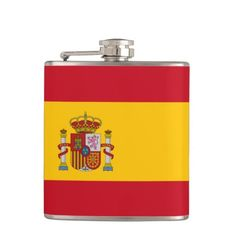 Spanish flag Flask