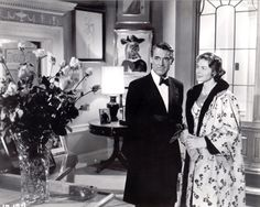 "Ingrid Bergman and Cary Grant in ""Indiscreet""...love the pictures on the walls"