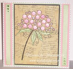 Pretty in Pink.Made by Suzanne Bubble Tree, Dots Candy, Craftwork Cards, Hobby House, First Blog Post, Candy Cards, Flower Cards, Homemade Cards, Pretty In Pink