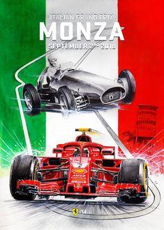 Scuderia Ferrari cover art for Italian Grand Prix 2018 Ferrari Racing, Ferrari F1, F1 Racing, Ferrari Scuderia, Lamborghini, Stock Car, Gp F1, Automobile, Italian Grand Prix