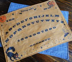 #Spoonflowered Ouija board placemats by mandasisco