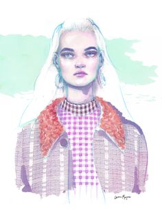 Fashion Illustration - Lauren Breitbarth // Christopher Kane Resort 2017