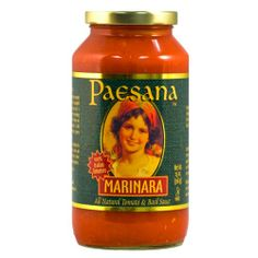 "Paesana - Marinara ""All Natural Tomato & Basil Sauce""-25 oz.: Amazon.com: Grocery & Gourmet Food"