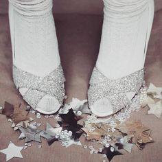 Anniel Opentoe shoes glitter | Wedding shoes www.annielshop.com
