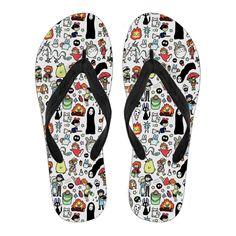 332f2561e9fe Studio Ghibli Totoro Flip Flops Sandals