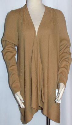NEW Womens Ladies Plus CHARTER CLUB Golden Tan Open Tunic Cardigan Sweater $79! #CharterClub #OpenTunicCardigan