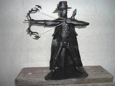 warrior metal statuette drakensang