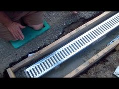 Install a Trench Drain - Video 1 of 7 - YouTube