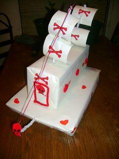 Pirate ship Valentine box. Yes!