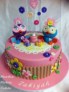Hootabelle and Hoot Cake - Cake by Mardie Makes Cakes School Cake, Owl Cakes, Cake Business, Character Cakes, Dessert Decoration, Little Cakes, Fancy Cakes, Celebration Cakes, Themed Cakes