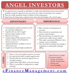 Angel Investors are individuals providing funding and financial support to the intial stage startups in the lieu of a stake in ownership of the company. Investing In Stocks, Investing Money, Saving Money, Stock Investing, Financial Literacy, Financial Planning, Accounting And Finance, Accounting Process, Initial Public Offering