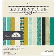 """Authentique Paper Natural Bundle Cardstock Pad, 6"""" x 6"""""""