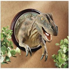 Design-Toscano-Exclusive-T-Rex-Dinosaur-Hand-Painted-Resin-Trophy-Wall-Sculpture