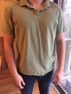 eeeac8d3 Calvin Klein Forest Green Short Sleeve Shirt Large Men's #fashion #clothing  #shoes #
