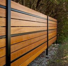 Easy Cheap Backyard Privacy Fence Design Ideas 47 - Back Yard Backyard Privacy, Backyard Fences, Garden Fencing, Backyard Landscaping, Patio Fence, Fenced In Backyard Ideas, Decking Fence, Landscaping Ideas, Backyard Designs