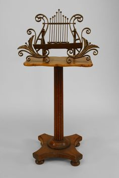 French Victorian misc. furniture music stand oak