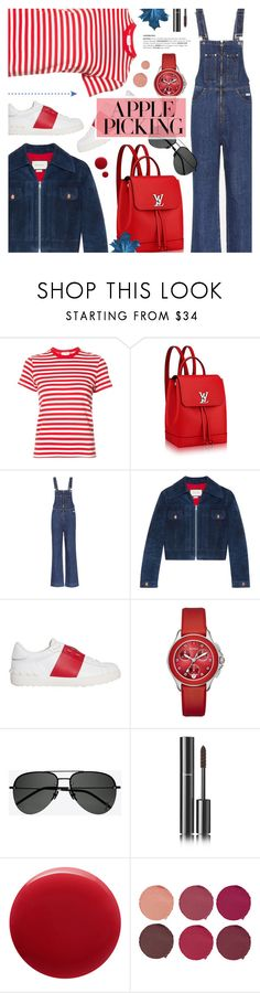 """""""Harvest Time: Apple Picking"""" by anyasdesigns ❤ liked on Polyvore featuring RE/DONE, Louis Vuitton, AlexaChung, Gucci, Valentino, Michele, Yves Saint Laurent, Chanel, Oribe and Pat McGrath"""