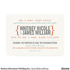 Modern Merriment Wedding Invitation
