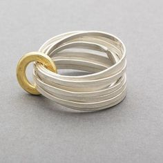 Ripple Multi Ring Gold by Latham & Neve