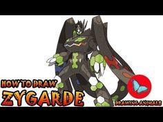 how to draw zygarde pokemon Pokemon Ash Greninja, Draw Pokemon, Pokemon Charmander, Pokemon Sun, Pokemon Cards, Drawing Animals, Animal Drawings, Drawing Tutorials, Art Tutorials