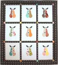 "Pear-adise. Needle turn, Machine or Hand appliqué. Pick your favorite method and add it to my favorite fruit and you have a ""Pear""adise all your own. http://www.kayewood.com/Pear-adise-Quilt-Pattern-by-Pixie-Girl-Quilts-PGQ-PEAR.htm 6.00"