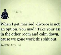 When I get married....