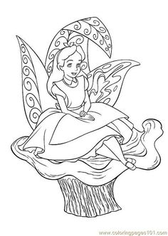 alice in wonderland disney coloring pageskids - Printable Coloring Pages For Children