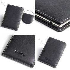 PDair Leather Case for BlackBerry Passport - Vertical Pouch Type (Black)