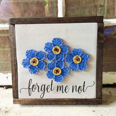 String Art, String and Nail Art, PCS'ing, Forget me not, Flowers, Going away gift, Wood Signs, Wall Art, Wall Decor, Military Family, Home by GrizzlyandCo on Etsy https://www.etsy.com/listing/469398825/string-art-string-and-nail-art-pcsing